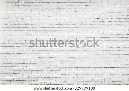 Whitewashed brick wall #329999108