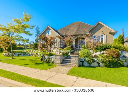 Luxury house at sunny day in Vancouver, Canada. #330018638