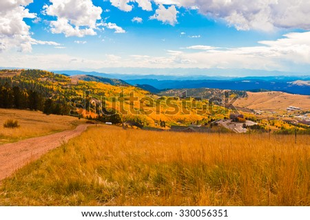 Foothills of Cripple Creek, Colorado in Autumn #330056351