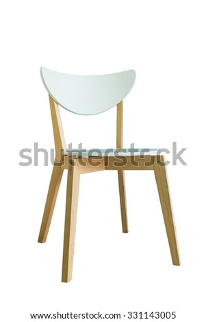 Wooden chair cushion white white background #331143005