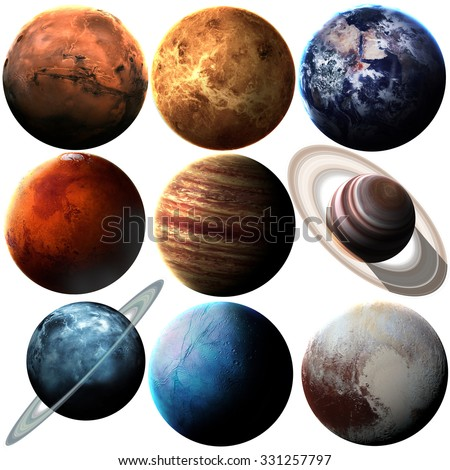 High quality solar system planets. Elements of this image furnished by NASA #331257797