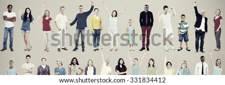 Multiethnic Casual People Togetherness Celebration Concept #331834412