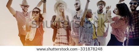 Teenagers Friends Beach Party Happiness Concept #331878248