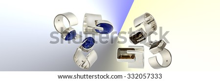 Banner with silver rings #332057333