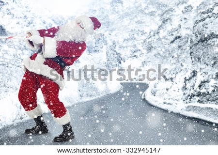 old santa claus and winter  #332945147
