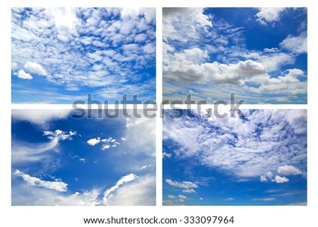 Collection sky with clouds #333097964