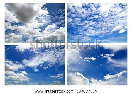 Collection sky with clouds #333097979