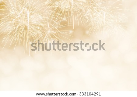 Fireworks at New Year and copy space. Royalty-Free Stock Photo #333104291