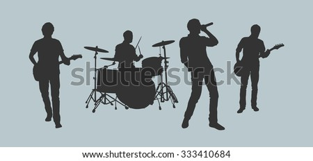 Rock band outlines #333410684
