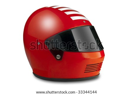 Racing helmet for car or motorcycle with clipping path Royalty-Free Stock Photo #33344144