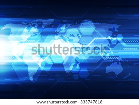 vector digital global technology concept, abstract background #333747818