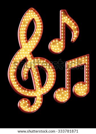 sign light Music Symbol