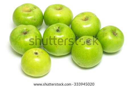 green apples isolated on white background #333945020