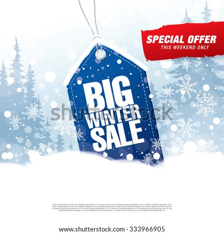 Big winter sale poster Royalty-Free Stock Photo #333966905