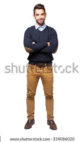 full body elegant man