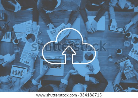 Cloud Computing Storage Internet Transfer Digital Concept #334186715