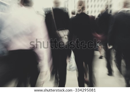 Business People Rush Hour Busy Walking Commuter Concept #334295081