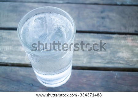 Glass of very cold water, stock photo #334371488