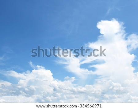 The vast blue sky and clouds sky #334566971