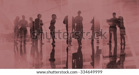 Business People Commuter Discussion Busy Concept #334649999