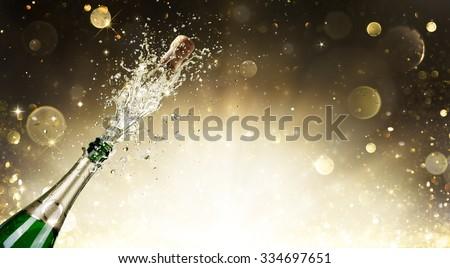 Champagne Explosion - Celebration New Year  Royalty-Free Stock Photo #334697651