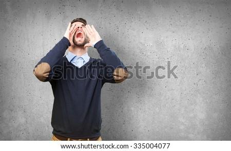 man shouting #335004077