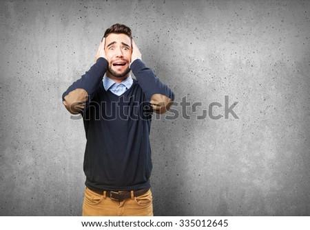 worried man on white #335012645