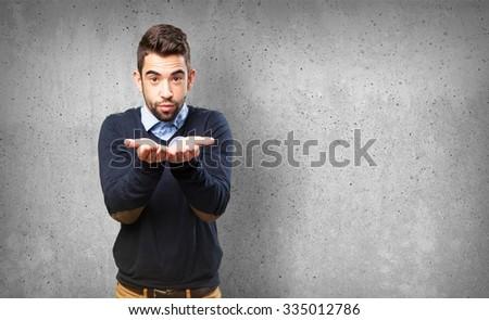 cool man offering something #335012786