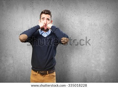 man punching himself #335018228