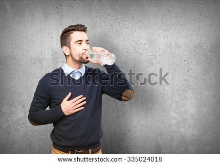 man drinking water #335024018