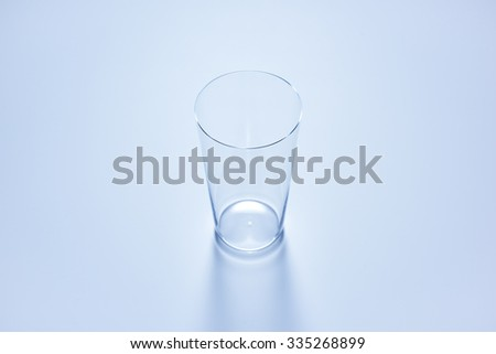 clean simple empty glass in soft blue color #335268899