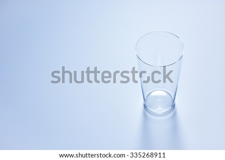 clean simple empty glass in soft blue color #335268911