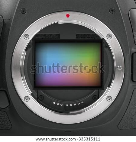 closeup of full frame camera sensor #335315111
