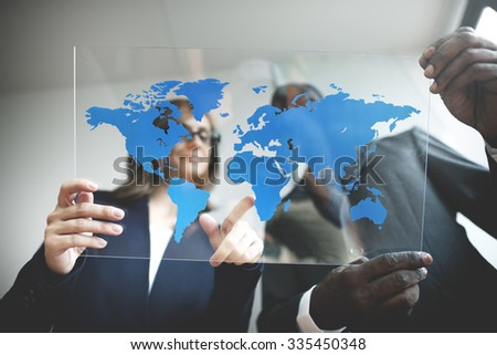 Business Team Global Business Planning Working Concept #335450348