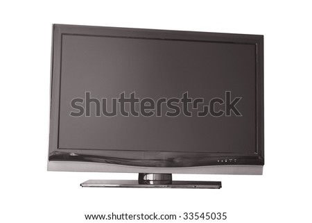 Flat television isolated from light #33545035