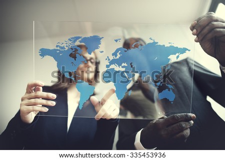 Business Team Global Business Planning Working Concept #335453936