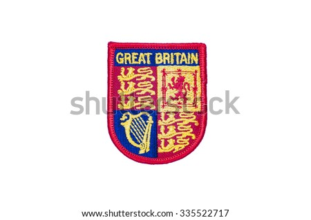 crest of great britain embroidered badge
