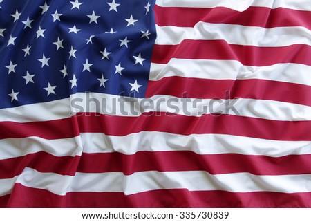 Closeup of American flag #335730839
