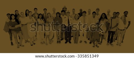 Large Group of People Community Diversity Concept #335851349