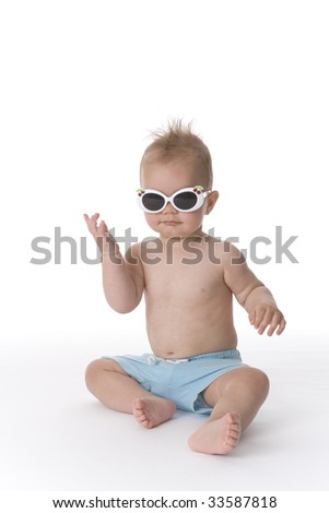 Toddler boy with sunglasses #33587818