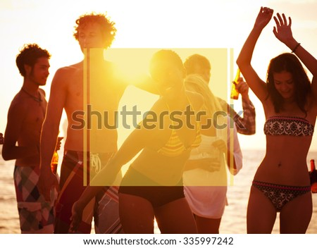 Copy Space Frame Summer Vacation Holiday Concept #335997242