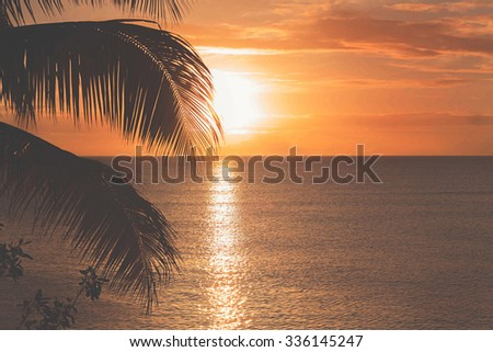 Sunset set in St. Lucia