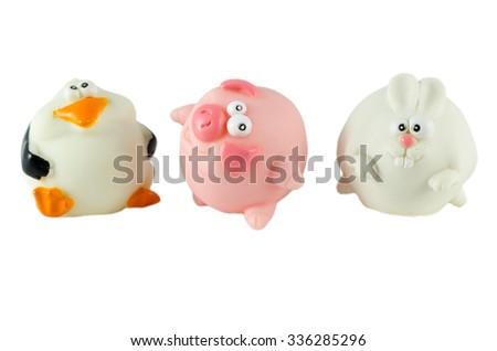 Funny figurines of animals #336285296