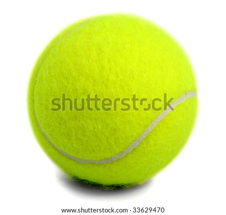 Tennis ball isolated on white. #33629470