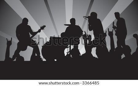 Punk Rock Concert Vector #3366485