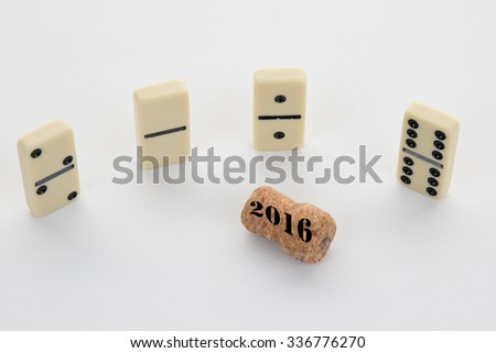 2016, a card for the end of the year isolated on white background #336776270