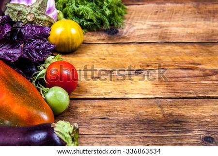 vegetables on wooden background #336863834