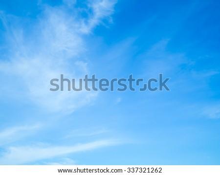 cloudscape blue sky on sunny day #337321262