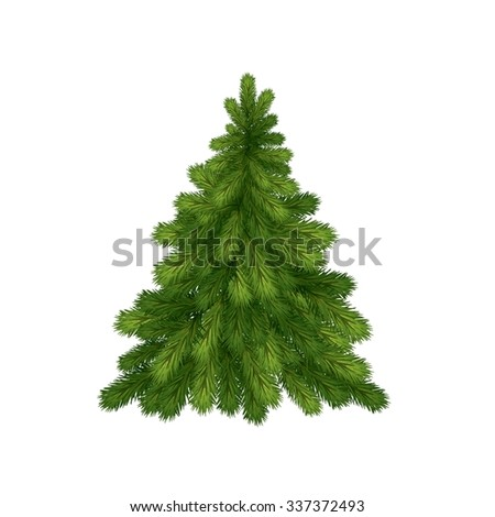 little christmas tree for christmas and new year #337372493