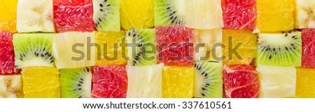 Cube shaped fruits background #337610561